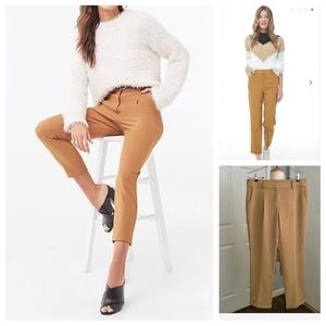 Forever 21 Women's Tan Ankle Pants L